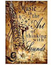 Saxophone The art of thinking with sounds 11x17 Poster front