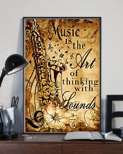 Saxophone The art of thinking with sounds 11x17 Poster lifestyle-poster-2