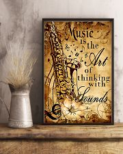 Saxophone The art of thinking with sounds 11x17 Poster lifestyle-poster-3