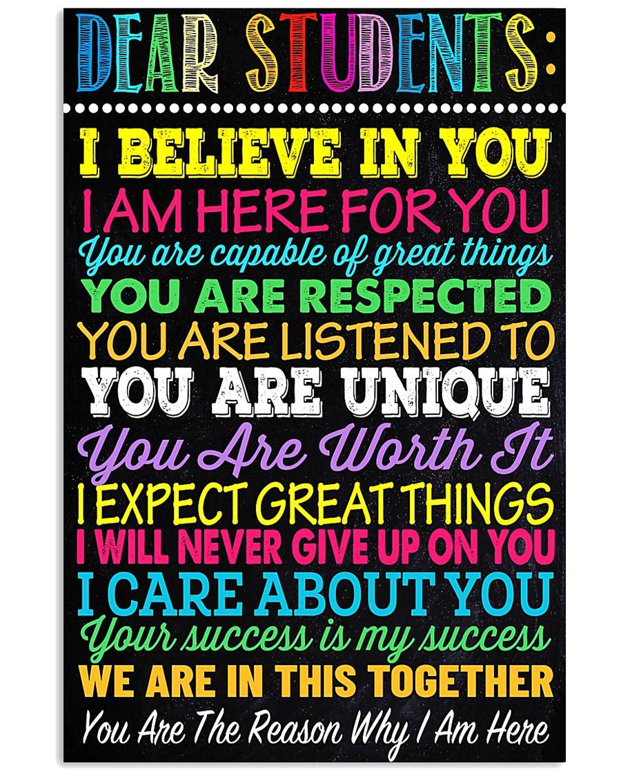 Teacher Dear Students 11x17 Poster