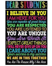 Teacher Dear Students 11x17 Poster front