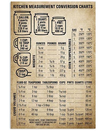 Chef Kitchen Measurement Conversion Charts