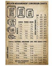 Chef Kitchen Measurement Conversion Charts 11x17 Poster front