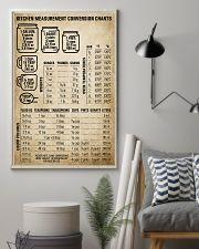 Chef Kitchen Measurement Conversion Charts 11x17 Poster lifestyle-poster-1