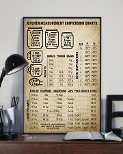 Chef Kitchen Measurement Conversion Charts 11x17 Poster lifestyle-poster-2