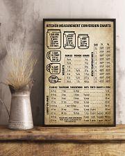 Chef Kitchen Measurement Conversion Charts 11x17 Poster lifestyle-poster-3