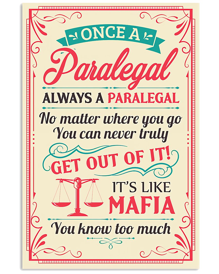 Always A Paralegal 11x17 Poster