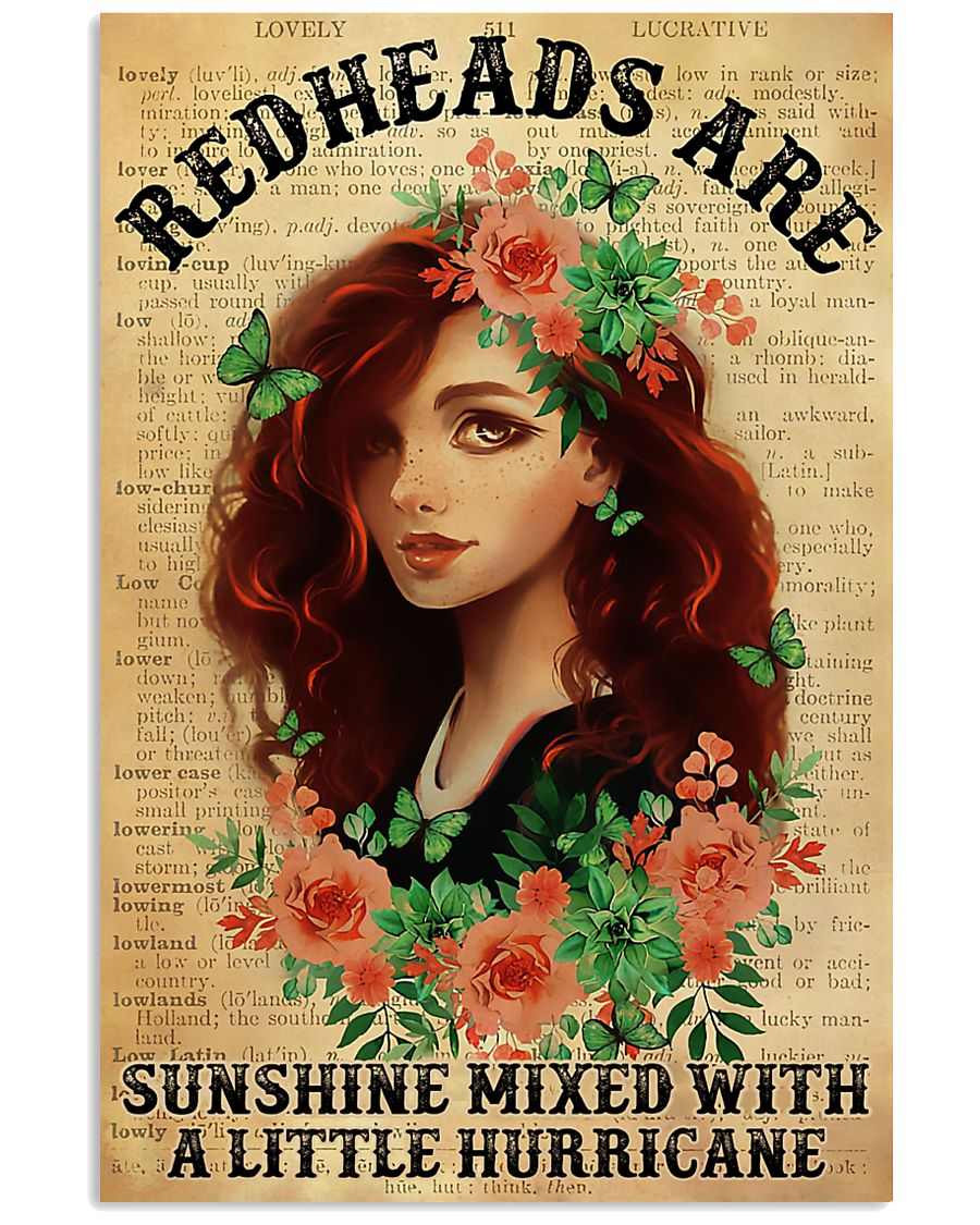 Redheads Are Sunshine  11x17 Poster
