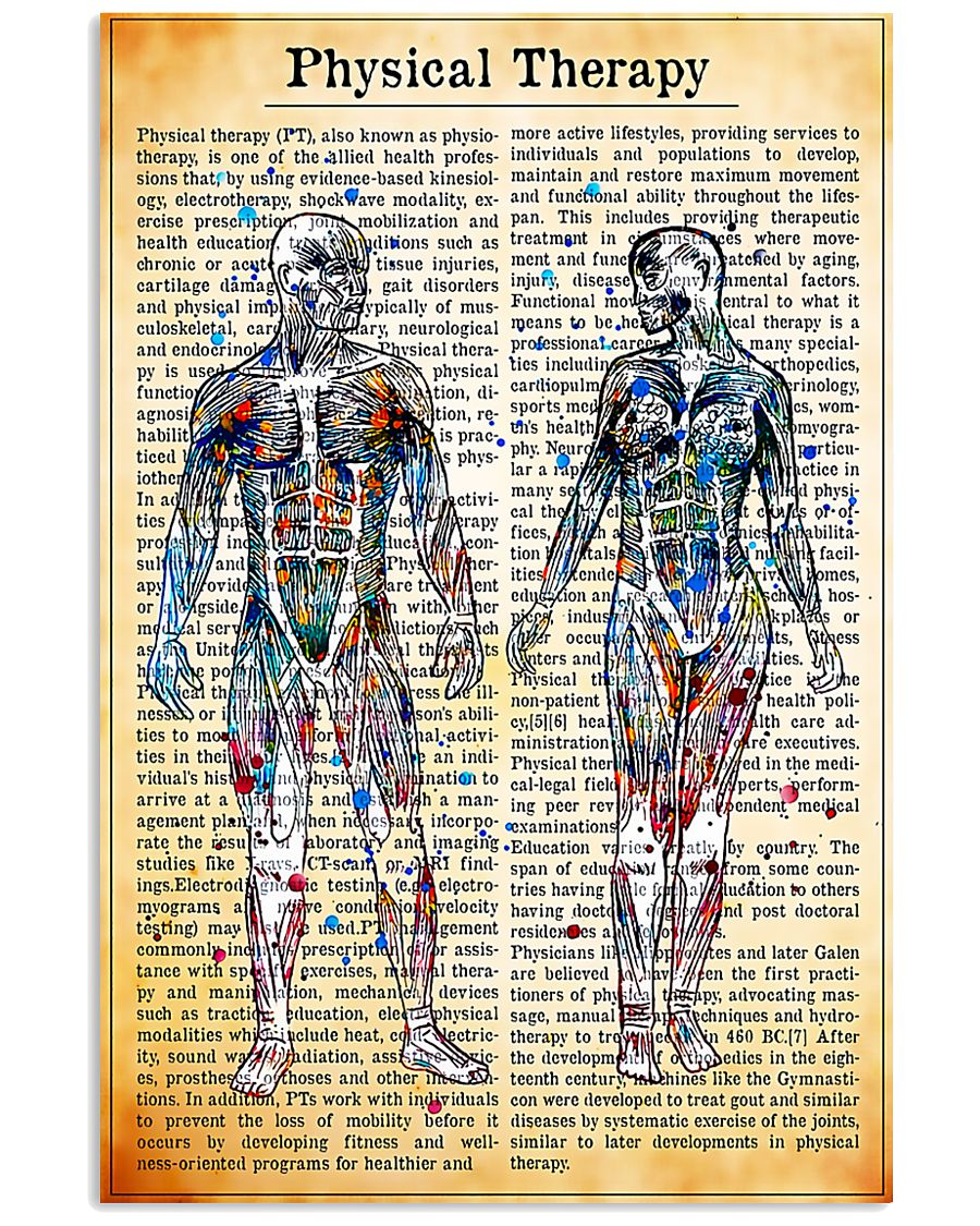 Physical Therapist Vintage Watercolor 11x17 Poster