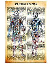 Physical Therapist Vintage Watercolor 11x17 Poster front