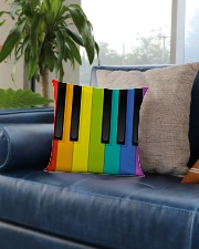Pianist Colorful  Square Pillowcase aos-pillow-square-front-lifestyle-02