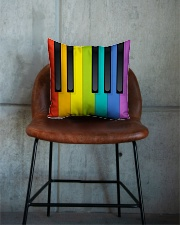 Pianist Colorful  Square Pillowcase aos-pillow-square-front-lifestyle-04