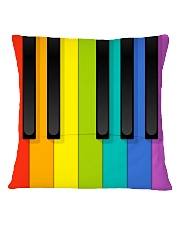 Pianist Colorful  Square Pillowcase back