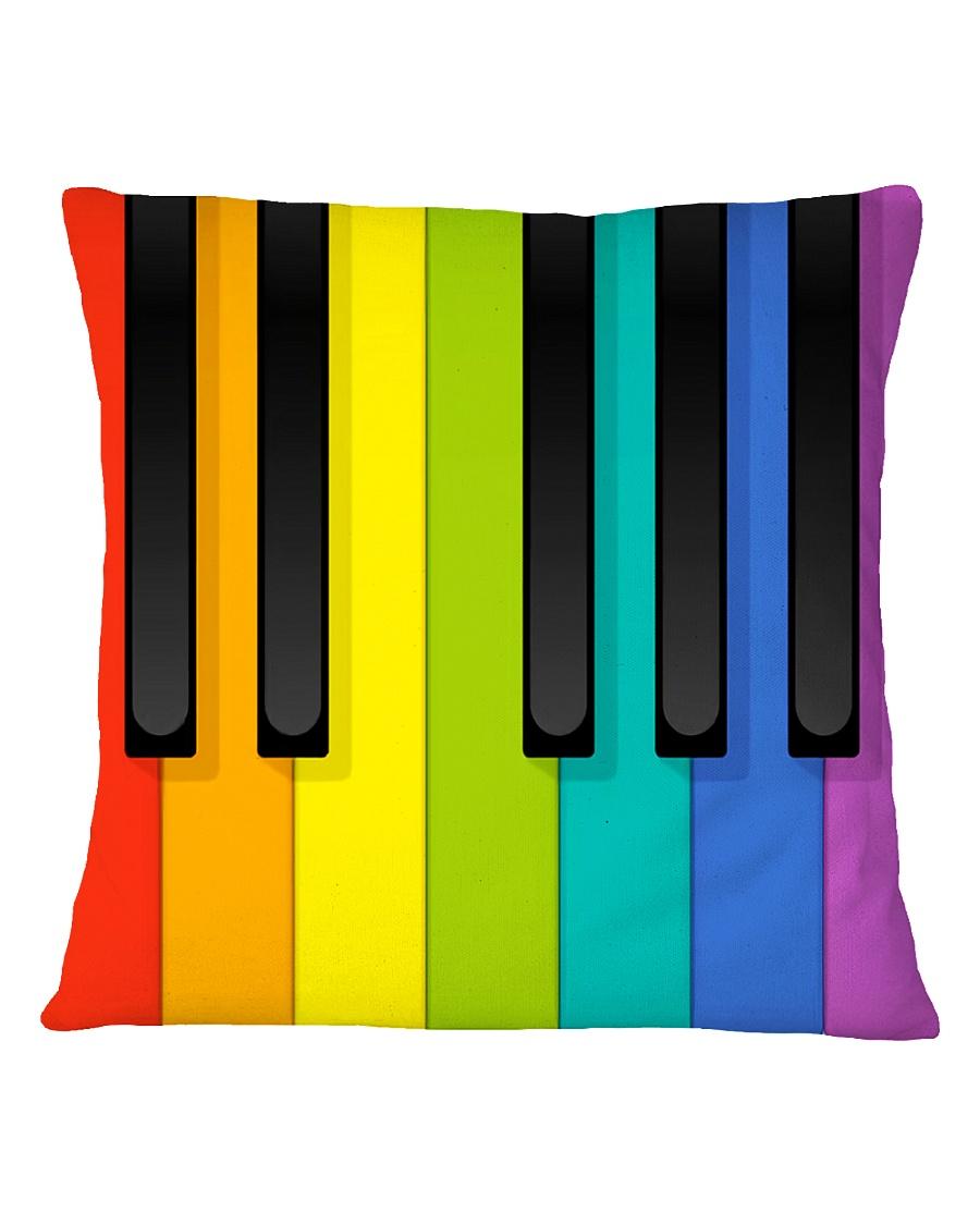 Pianist Colorful  Square Pillowcase