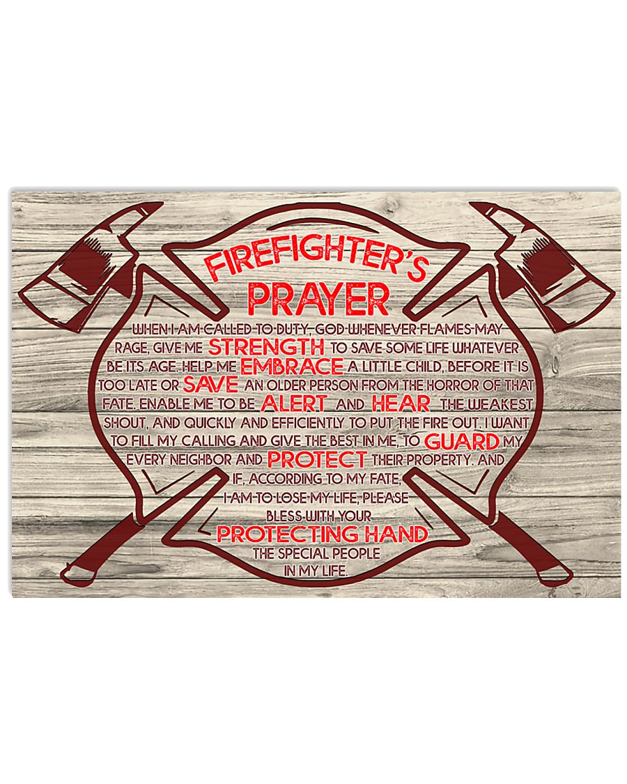 Firefighter When I am called to duty 36x24 Poster