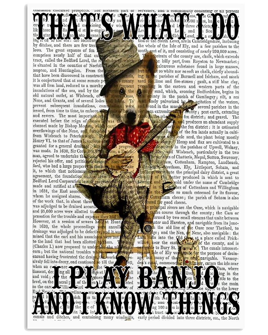 Play Banjo And Know Things 11x17 Poster