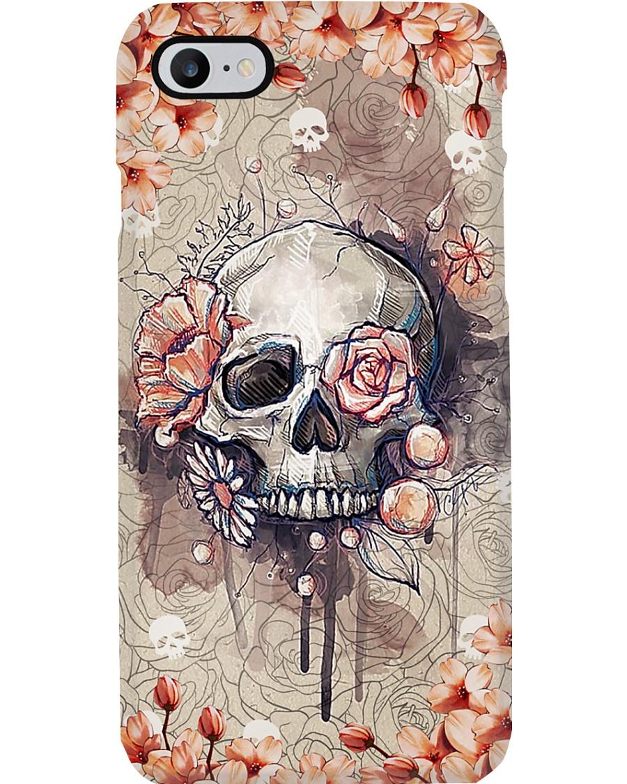 Radiologist Rose Skull Phone Case