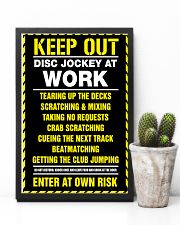Keep out DJ at work 11x17 Poster lifestyle-poster-8