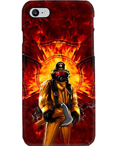 Firefighter Standing On Fire