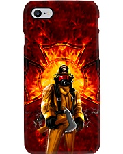 Firefighter Standing On Fire Phone Case i-phone-7-case