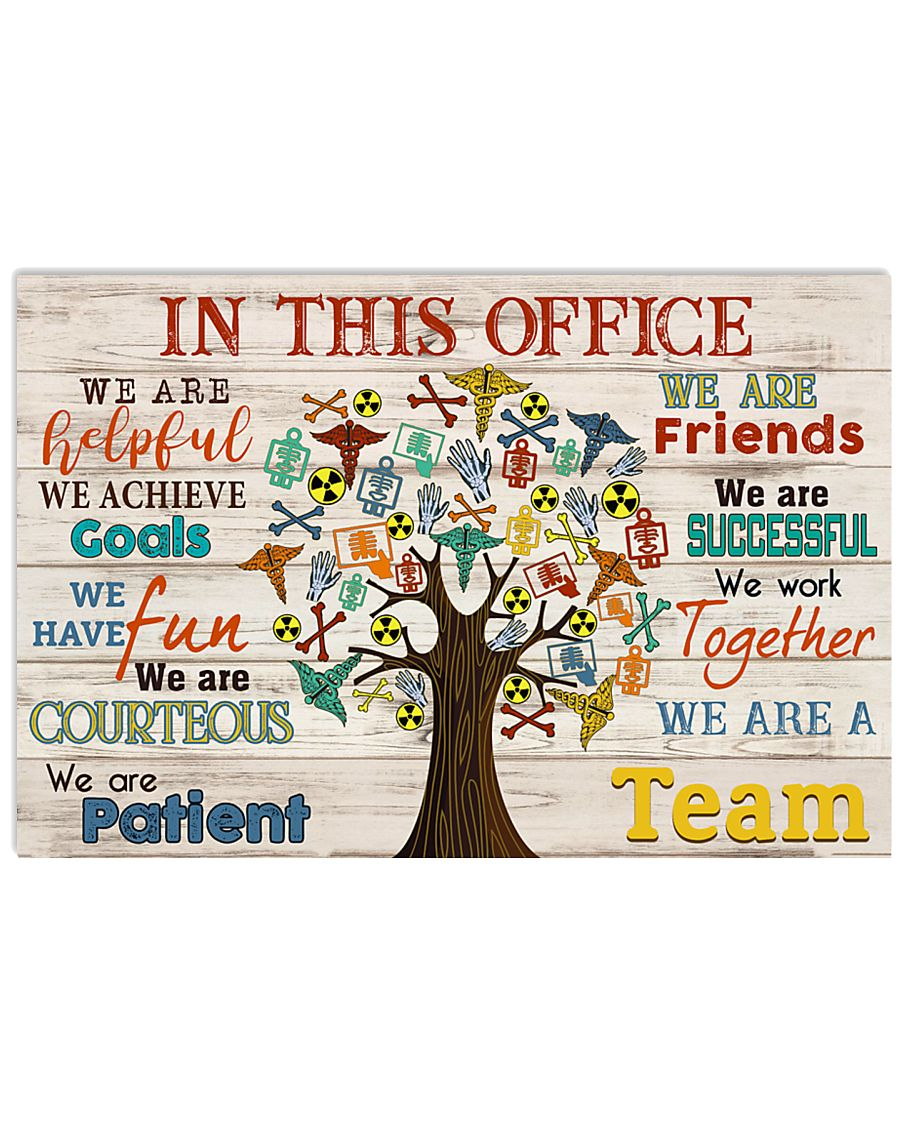 Radiologist we are a team 17x11 Poster