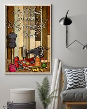 Sewing I Think To Myself What A Wonderful World 11x17 Poster lifestyle-poster-1