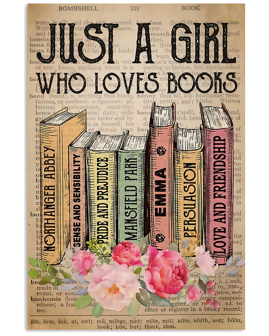 Book Lover Just A Girl Who Loves Books 11x17 Poster