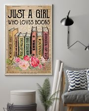 Book Lover Just A Girl Who Loves Books 11x17 Poster lifestyle-poster-1