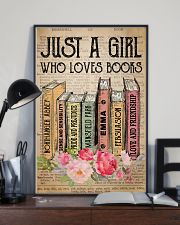 Book Lover Just A Girl Who Loves Books 11x17 Poster lifestyle-poster-2