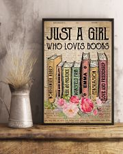 Book Lover Just A Girl Who Loves Books 11x17 Poster lifestyle-poster-3