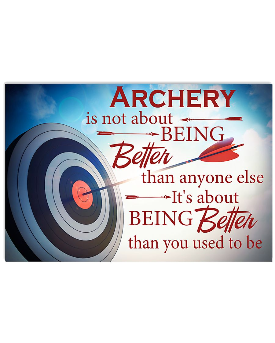 Archer It's About Being Better Than You Used To Be 17x11 Poster