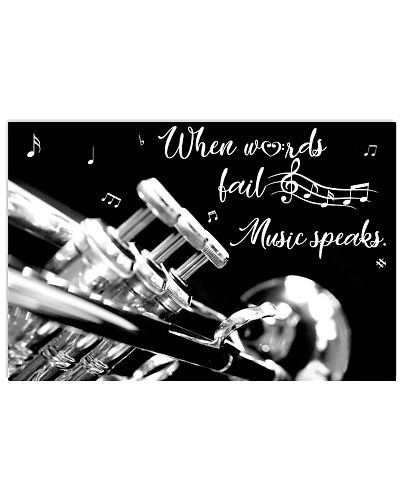 Trumpet When words fail Music speaks Poster