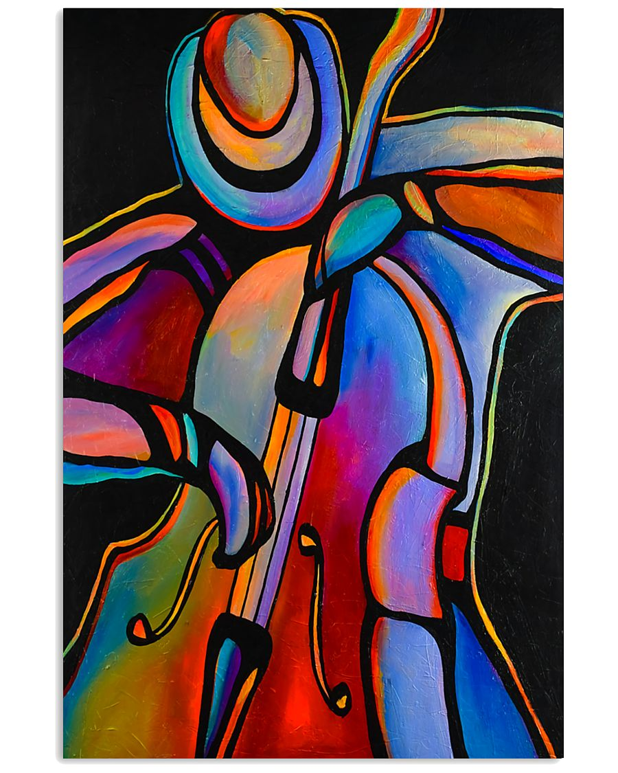 Contrabass Man Color Art 11x17 Poster