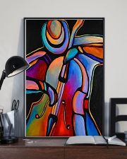Contrabass Man Color Art 11x17 Poster lifestyle-poster-2