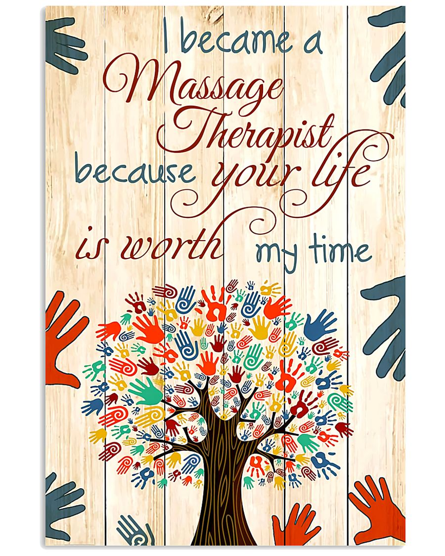 I Became A Massage Therapist 11x17 Poster