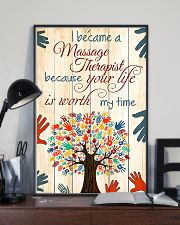 I Became A Massage Therapist 11x17 Poster lifestyle-poster-2