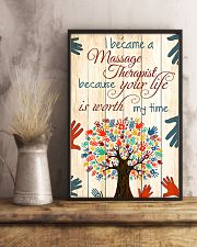 I Became A Massage Therapist 11x17 Poster lifestyle-poster-3