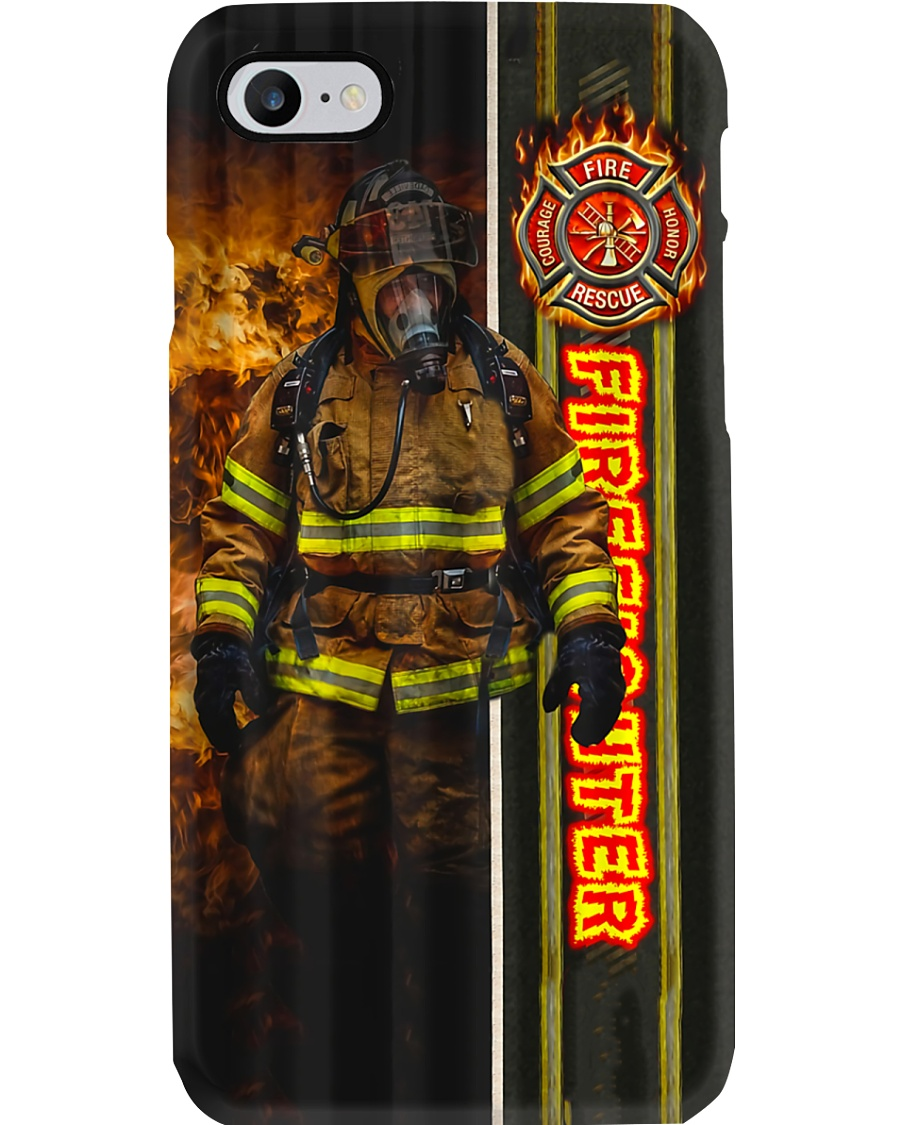 Firefighter Walking Out Of Fire Phone Case