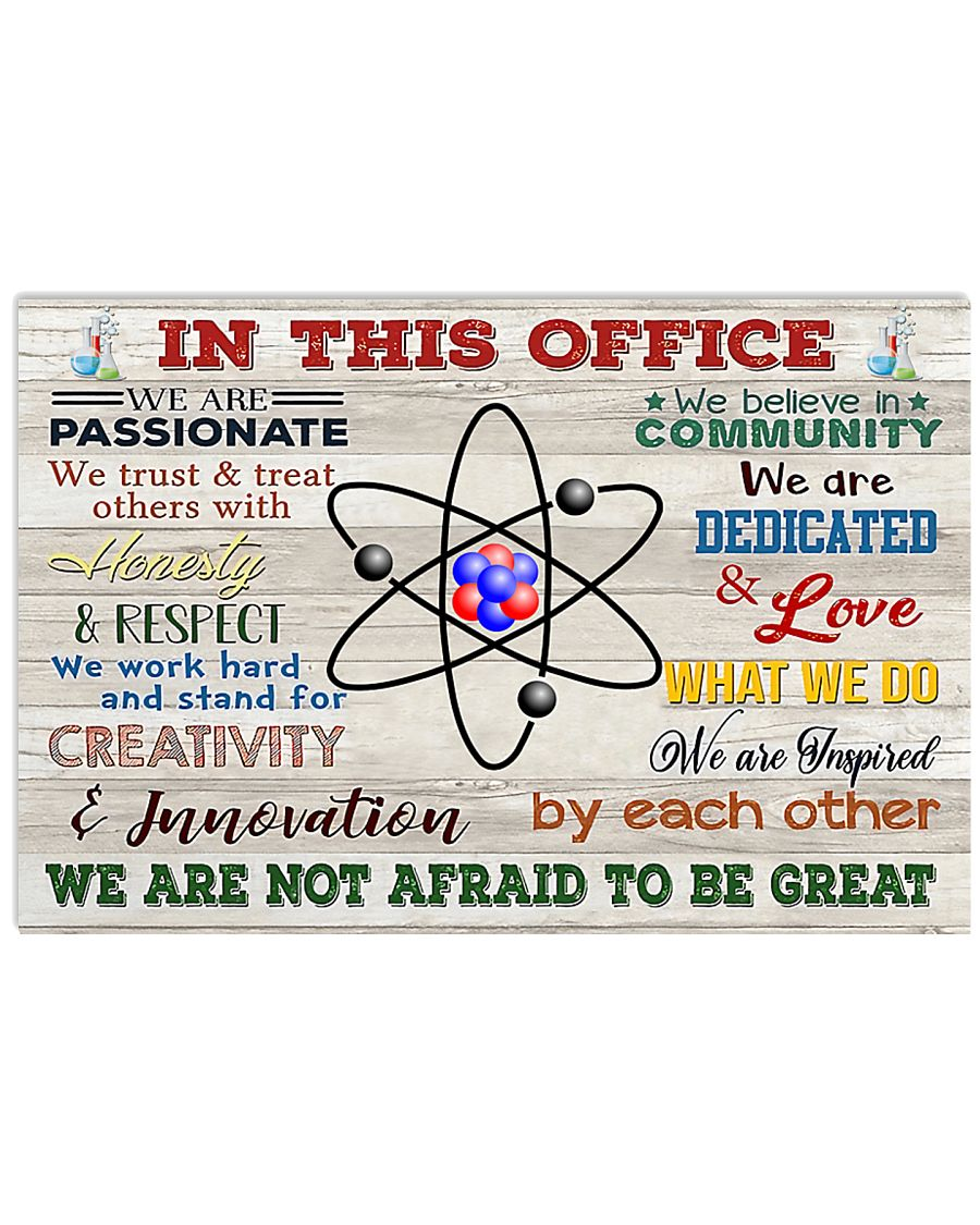 Chemist In This Office 17x11 Poster