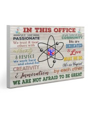 Chemist In This Office 30x20 Gallery Wrapped Canvas Prints thumbnail