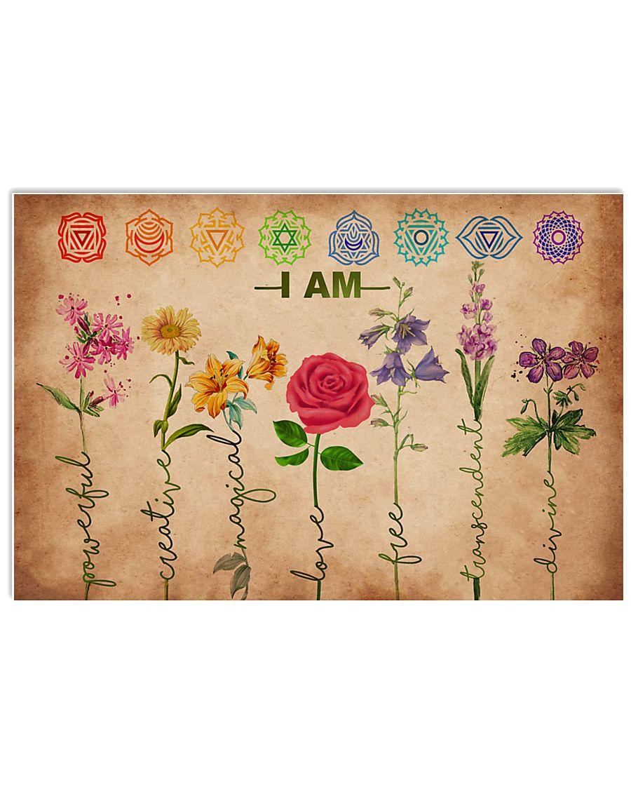 Yoga - I am powerful creative 17x11 Poster