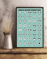 SLP Speech Sound Production 11x17 Poster lifestyle-poster-3