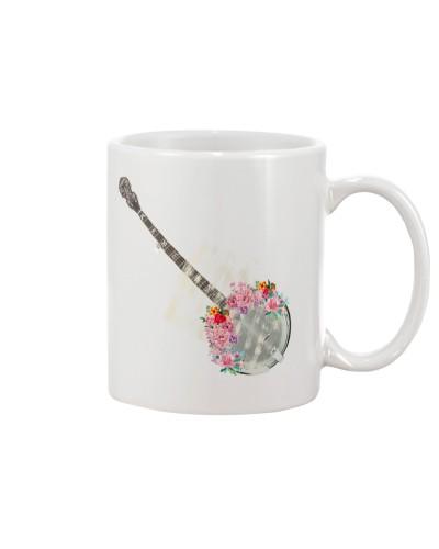 Floral Banjo Instrument
