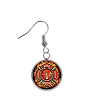 Firefighter Proud Circle Earrings thumbnail