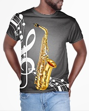 Saxophone Music Notes All-over T-Shirt aos-all-over-T-shirt-lifestyle-front-04
