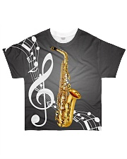 Saxophone Music Notes All-over T-Shirt front