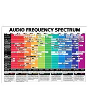 Saxophone Audio Frequency Spectrum 17x11 Poster front