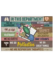 In This Department We Are Respiratory Therapists 17x11 Poster front