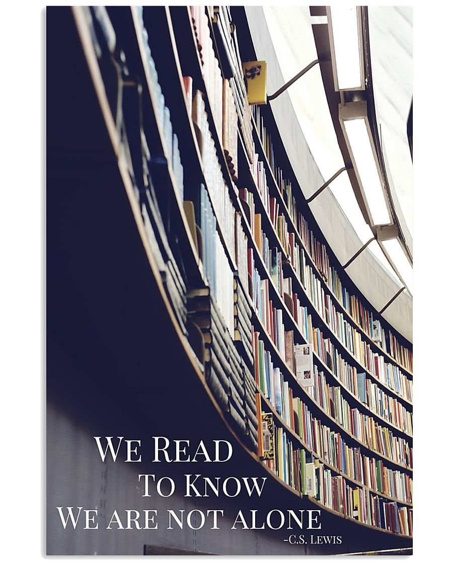 Librarian We Are Not Alone  11x17 Poster