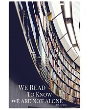 Librarian We Are Not Alone  11x17 Poster front